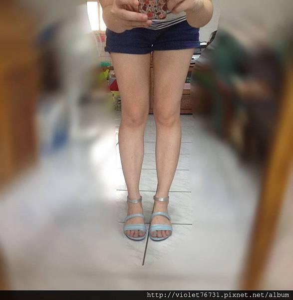 配色涼鞋13