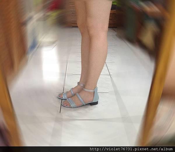配色涼鞋14