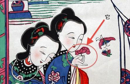 古代仕女图的局部表现出桃花坞年画.jpg