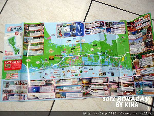 長灘島 MAP 正面
