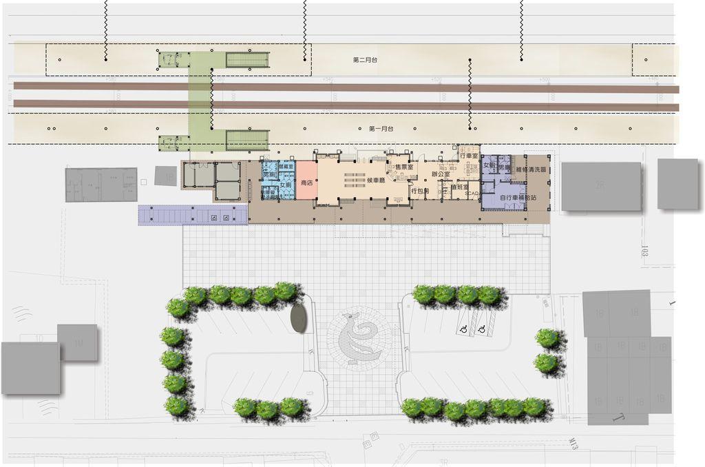 鳳林車站-平面圖
