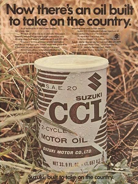 SUZUKI CCI MOTOR OIL