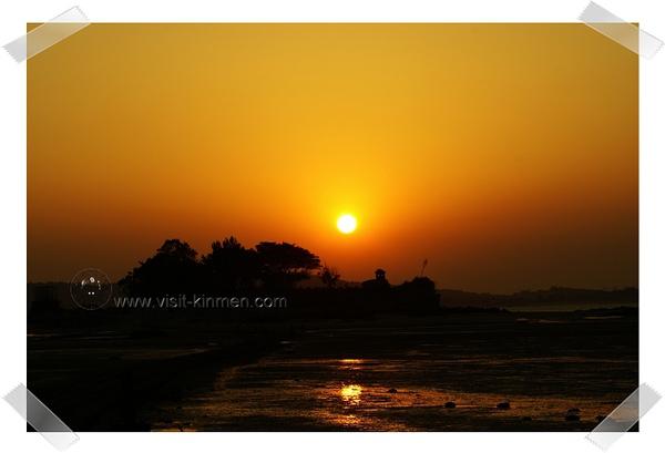 建功嶼夕陽