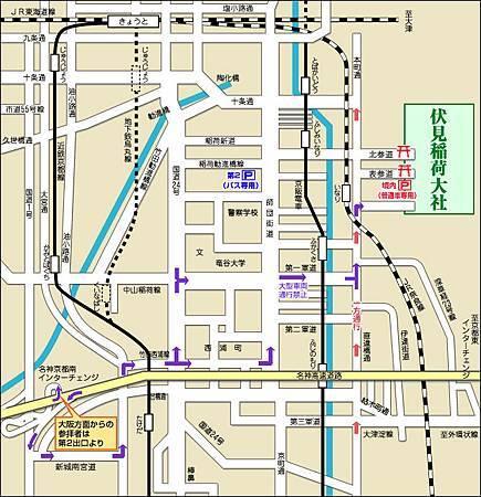 伏見稻荷大社地圖
