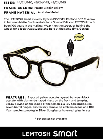 Moscot x Smart @必久戴眼鏡