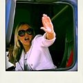 Patsy Kensit in 'Norum' Oliver Goldsmith Sunglasses