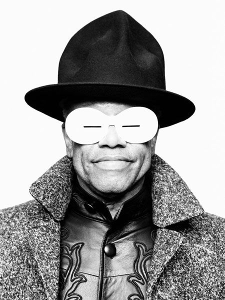 Bobby Womack in handmade 'Slits' Oliver Goldsmith Sunglasses