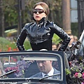 Gaga in Oliver Goldsmith Sunglasses - 'Mask'