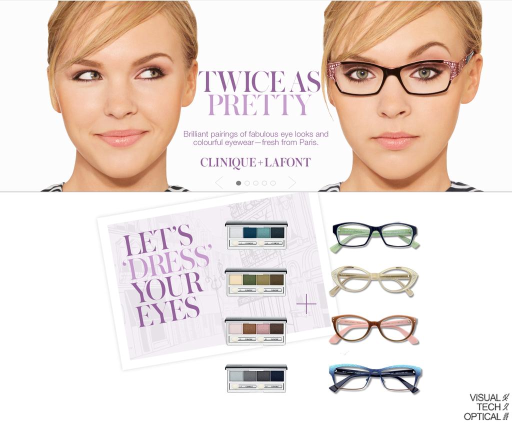 Clinique x Lafont 眼鏡妝容這樣搭 @必久戴眼鏡