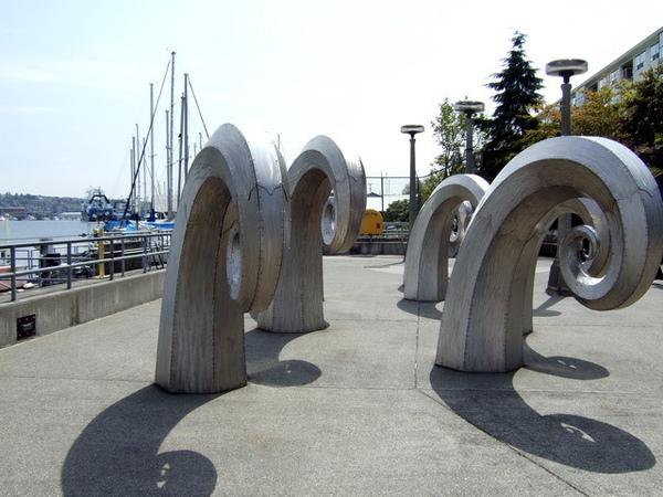 西雅圖港邊的特殊裝置藝術