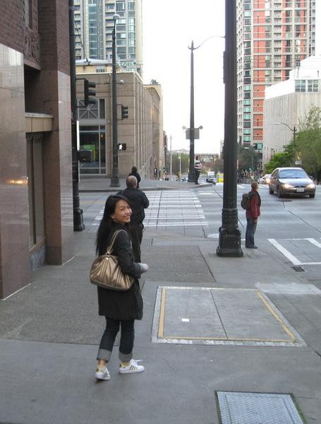 西雅圖清晨的街