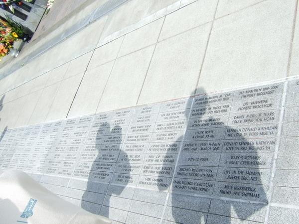 西雅圖水手紀念館-一個名字代表著一個已故水手