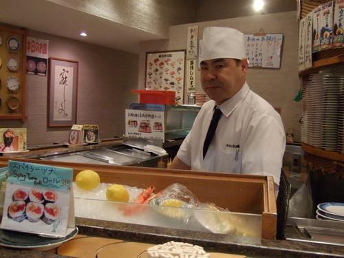 北澤俱樂部看起來有殺氣的壽司師傅