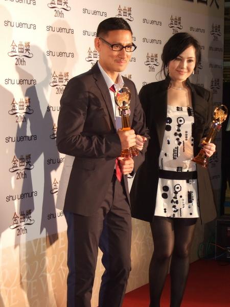 我的兩位偶像張學友和江蕙在金曲獎後台受訪