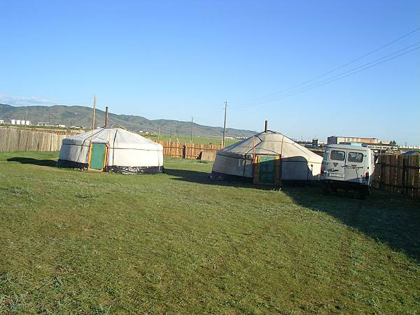 在Kharkhorin住的蒙古包