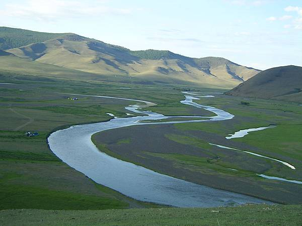 從Anar的後山坡俯瞰Orkhon Gol