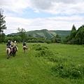 在Terelj騎馬