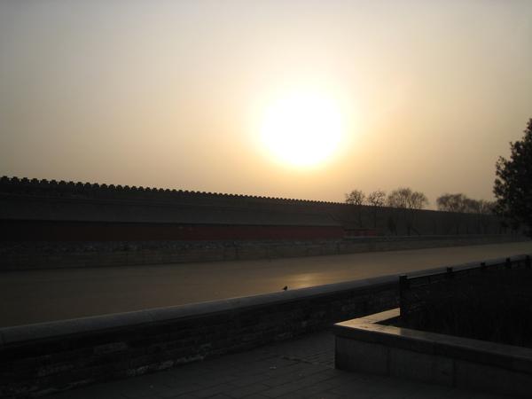 故宮外夕陽