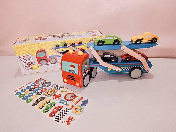 英國 Le Toy Van 跑車運輸車玩具組 (6).jpg