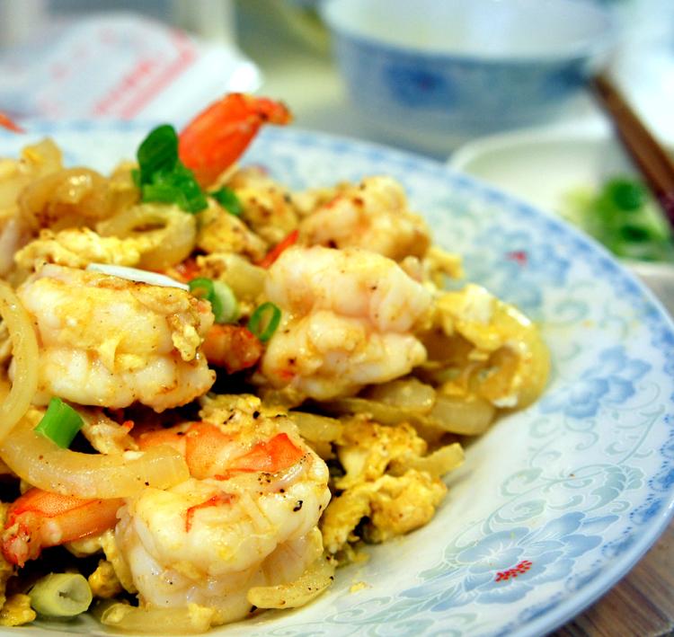 咖哩洋蔥蛋炒蝦