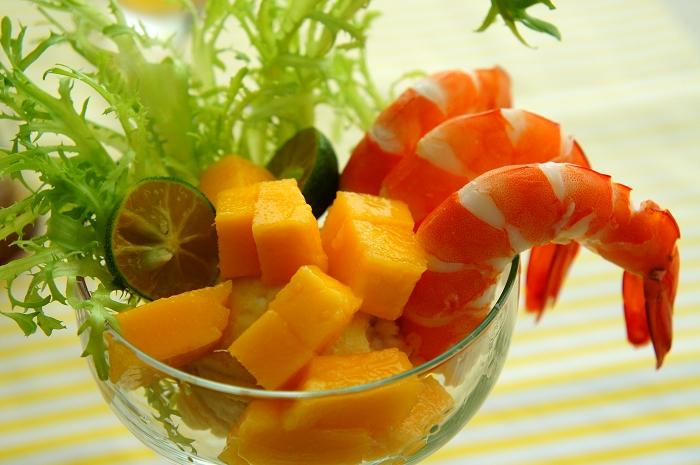 鮮蝦芒果雞尾酒