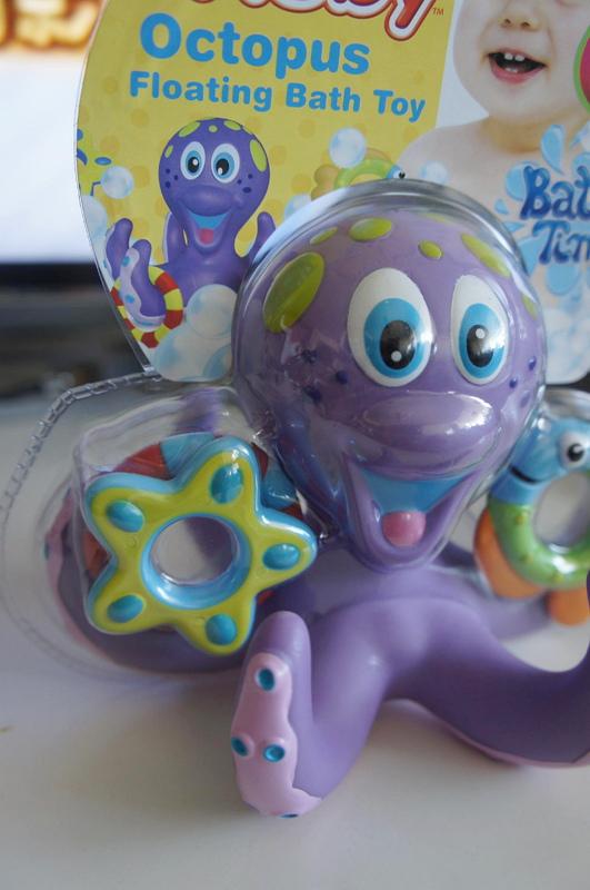 NUBY洗澡玩具-章魚套圈圈