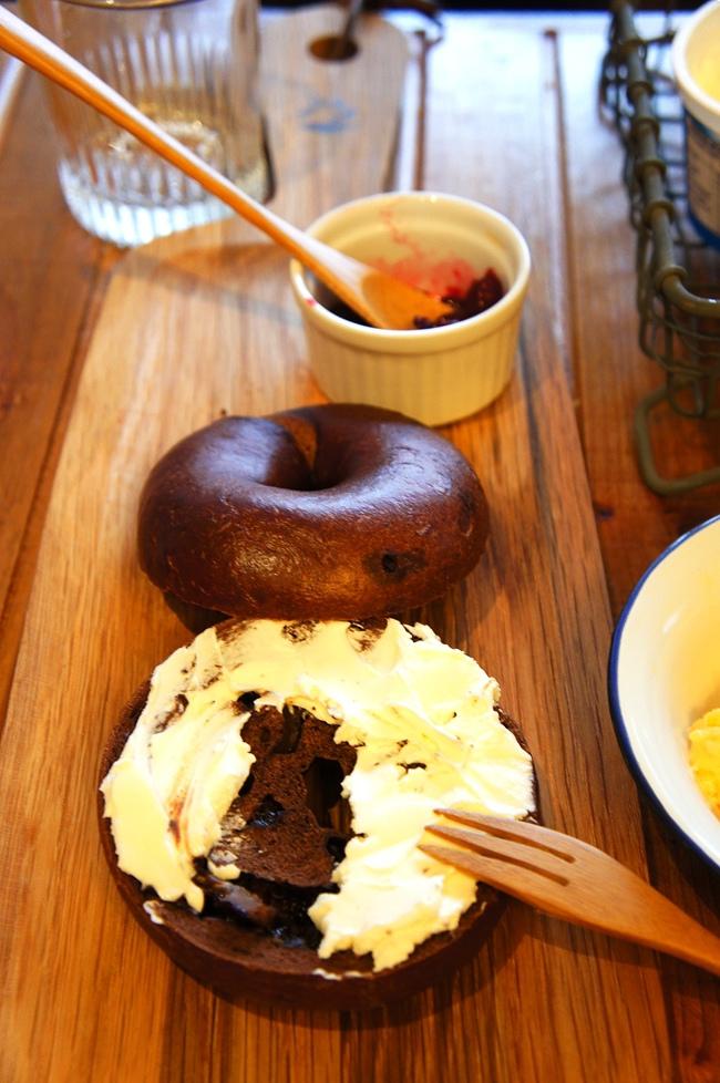 貝果與美式炒蛋