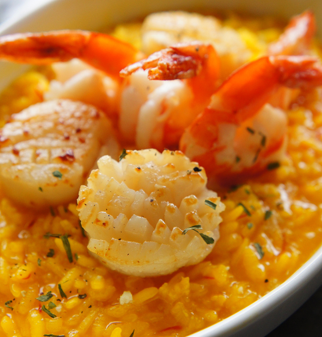 番紅花海鮮烤燉飯
