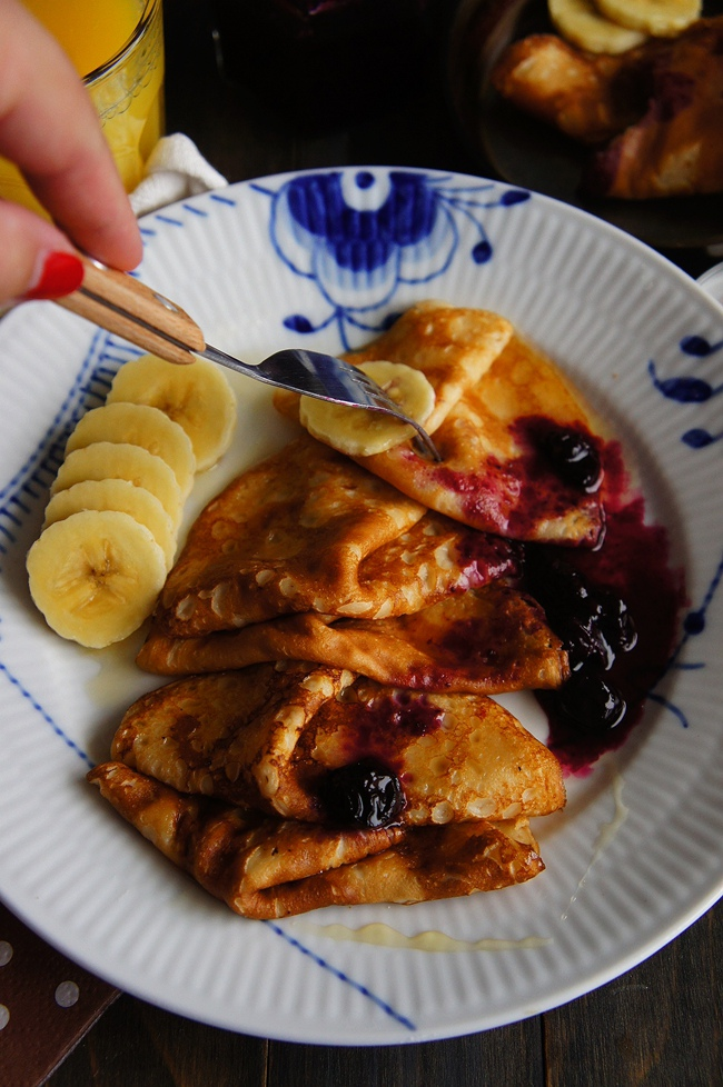 香蕉藍莓可麗餅