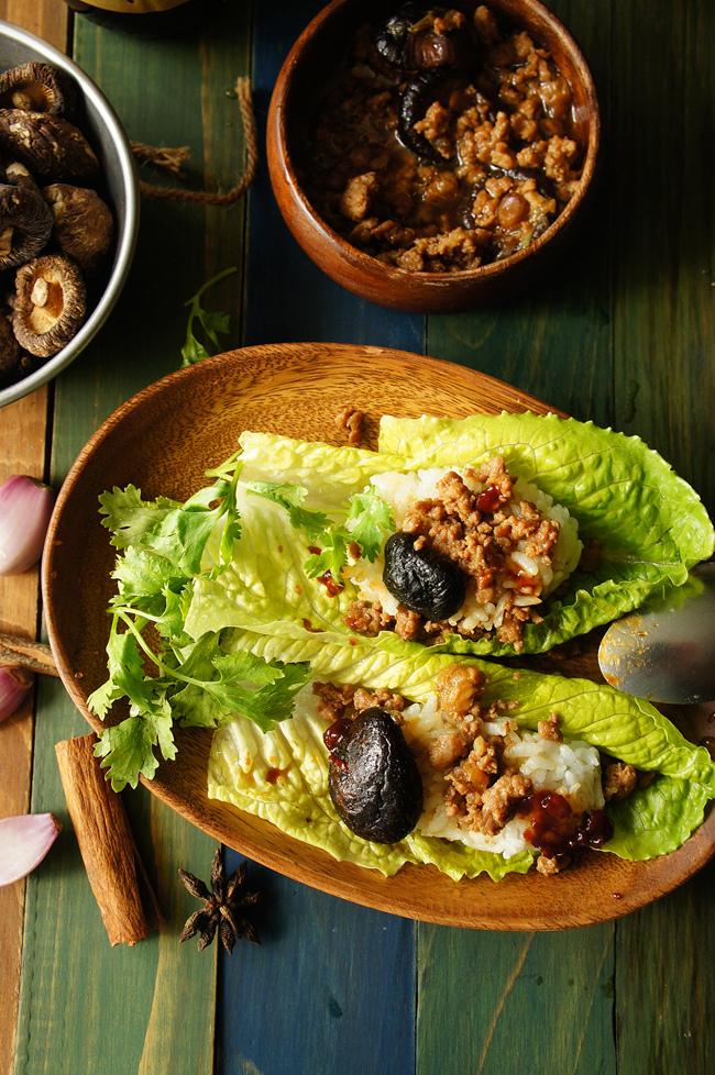 香菇肉燥生菜包飯