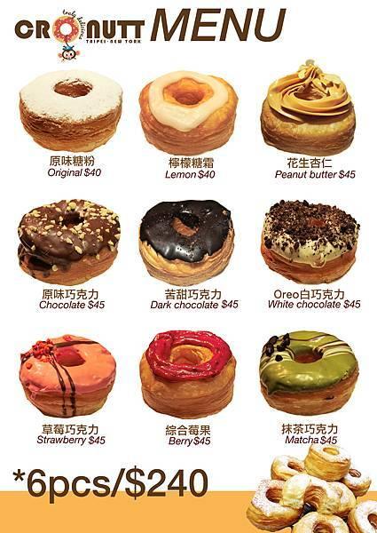 cronutt menu