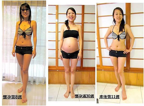 孕前產後對比照