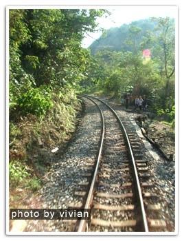 前面有個過彎處,剛剛小豬也在那邊拍火車現在換別人拍上來