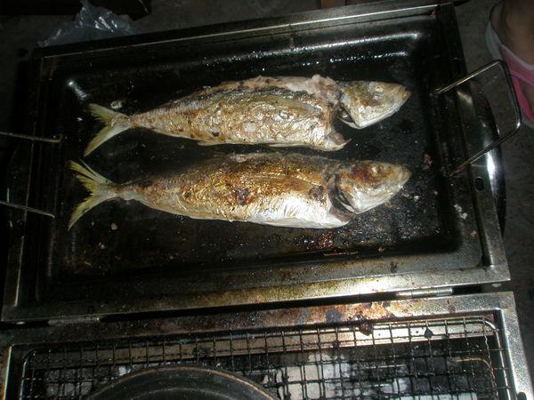 魚...烤熟中.JPG