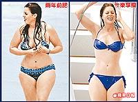 碧翠絲兩年前因臃腫的泳裝照曝光,深受打擊,如今她甩掉近10公斤,擠進辣妹榜,讓人耳目一新.jpg