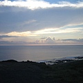 先拍一下美麗的海景