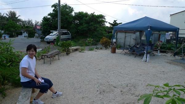 一個大大的庭院   上面是海沙