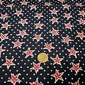 美國棉布  星星