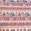 鄉村風絕版棉布 美式鄉村風女孩邊條布 。布料加價$150.-