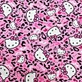 kitty 粉紅底豹紋  美國棉布【布料加價60】