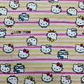 kitty 條紋彩色 日本厚質棉布  【布料加價120】