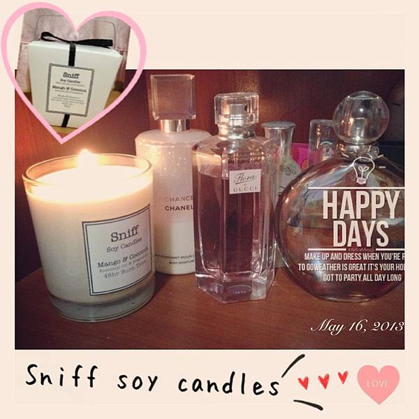 sniff soy candles