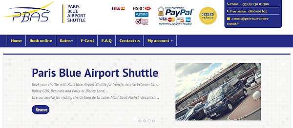 PARIS BLUE AIRPORT SHUTTLE