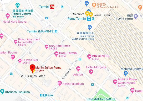 manin suites map