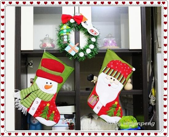 聖誕花圈+襪.JPG