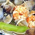 絲瓜蛤蜊蒸蝦 (2)-壓標