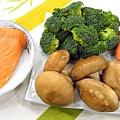 時蔬炒鮭魚-壓標