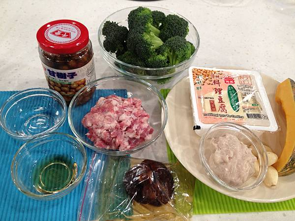 蒸豆腐材料