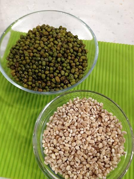 綠豆薏仁材料