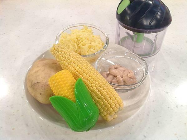 馬鈴薯玉米煎餅材料
